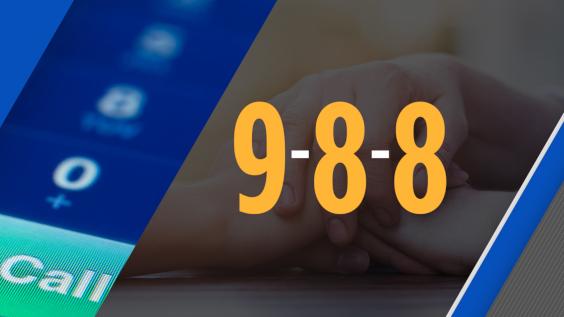 Image of 9-8-8 suicide prevention hotline number