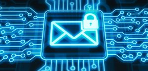Secure mail concept on digital display